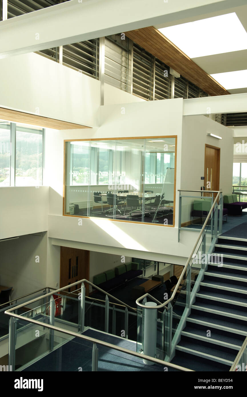 Inside the new Wales Assembly Government offices, Aberystwyth UK - Stock Image