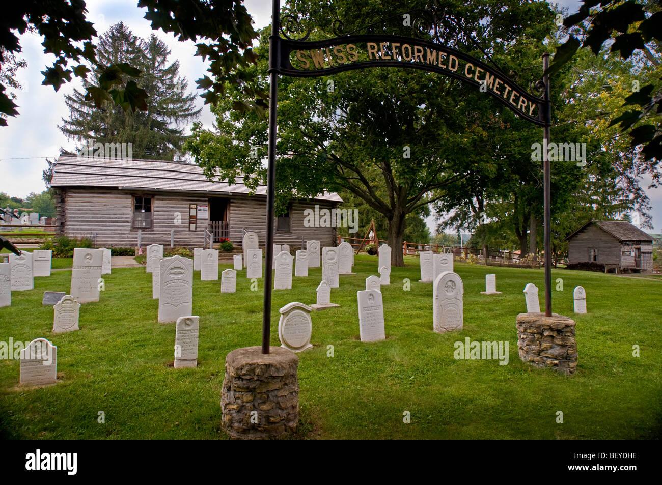 Swiss Historical Village New Glarus Wisconsin - Stock Image