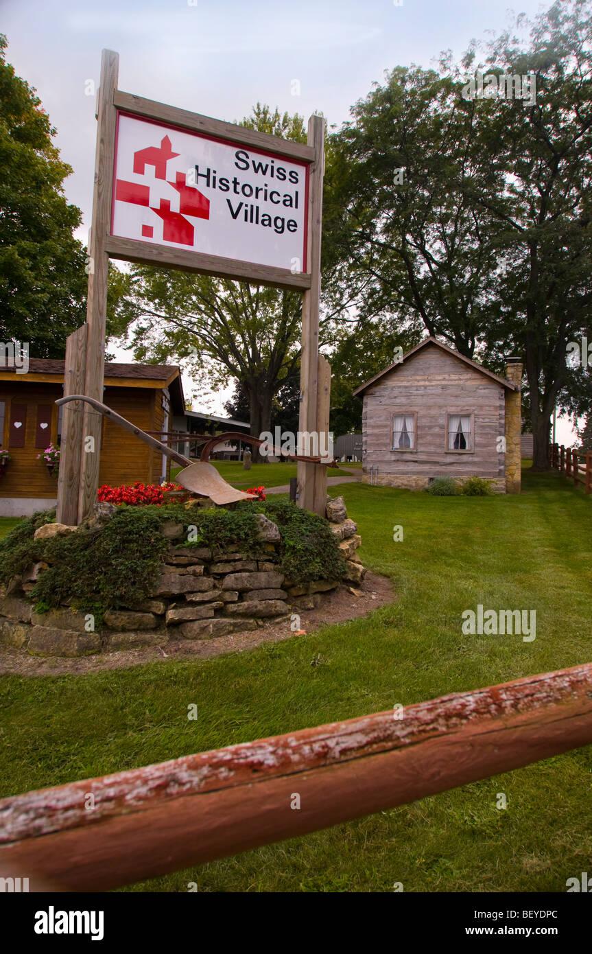 Swiss Historical Village  in New Glarus Wisconsin - Stock Image