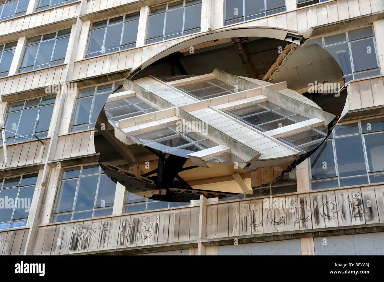 Turning The Place Over sculpture art by Richard Wilson - Stock Image