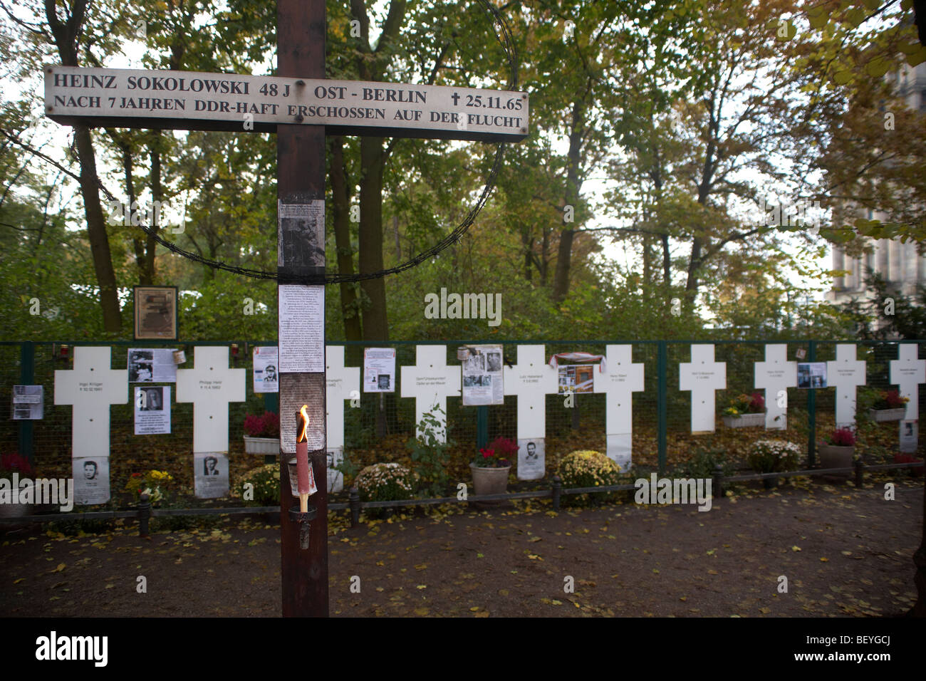 Berliner Wall - murdered victims - Stock Image