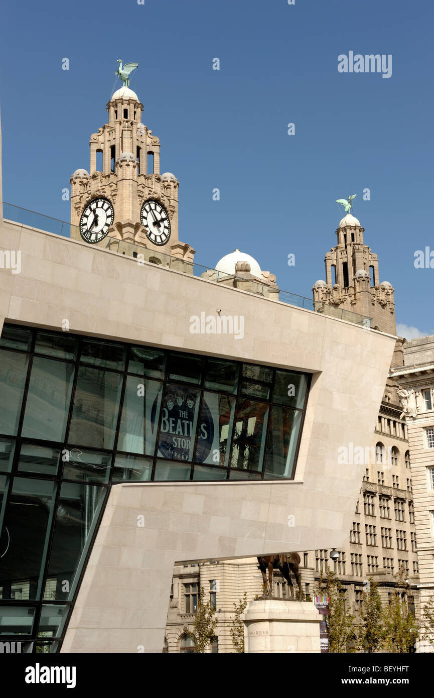 Beatles Story and Ferry Terminal building Pier Head Liverpool Merseyside England UK - Stock Image