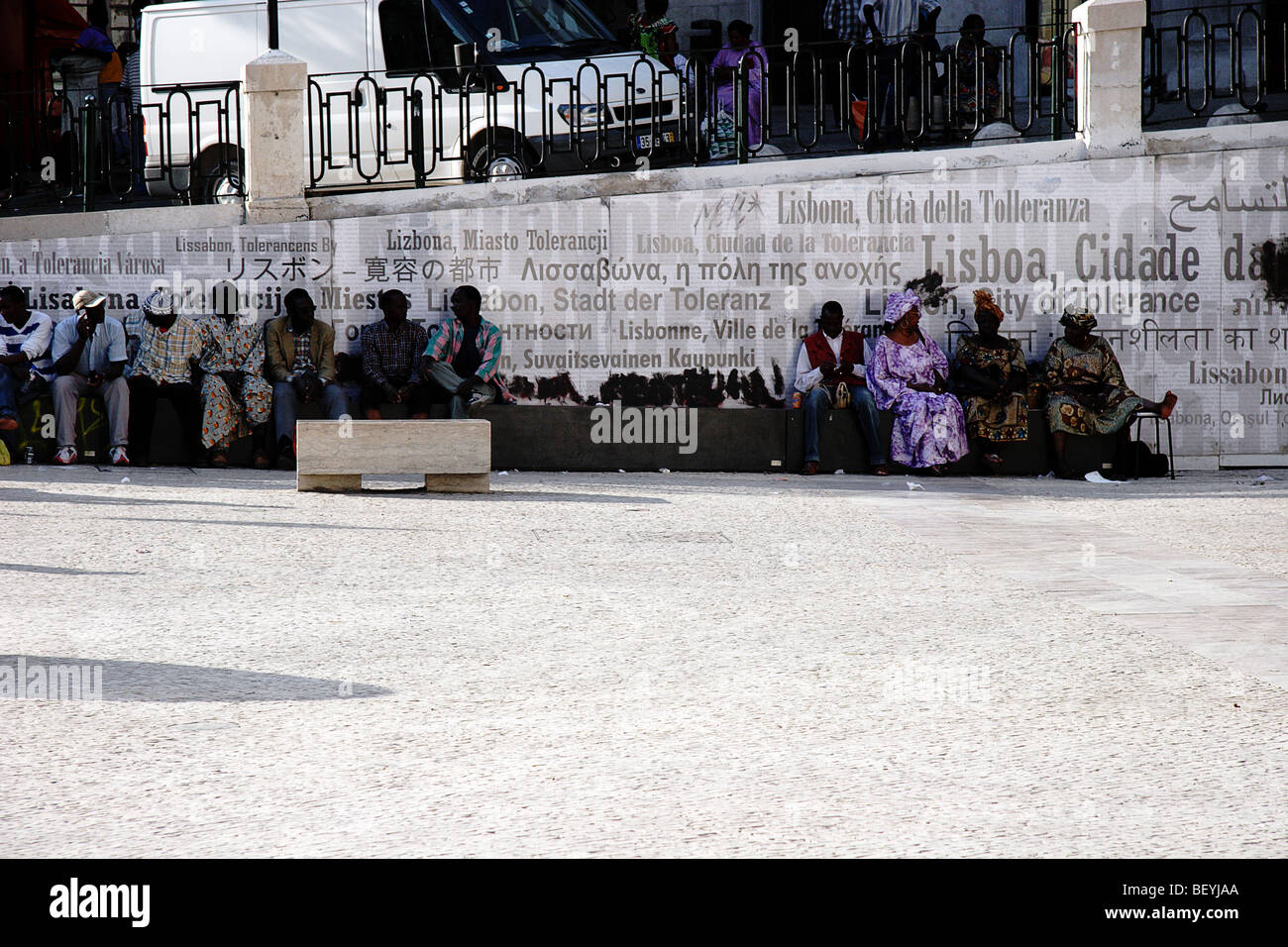 Africans in Lisbon, Culture - Stock Image