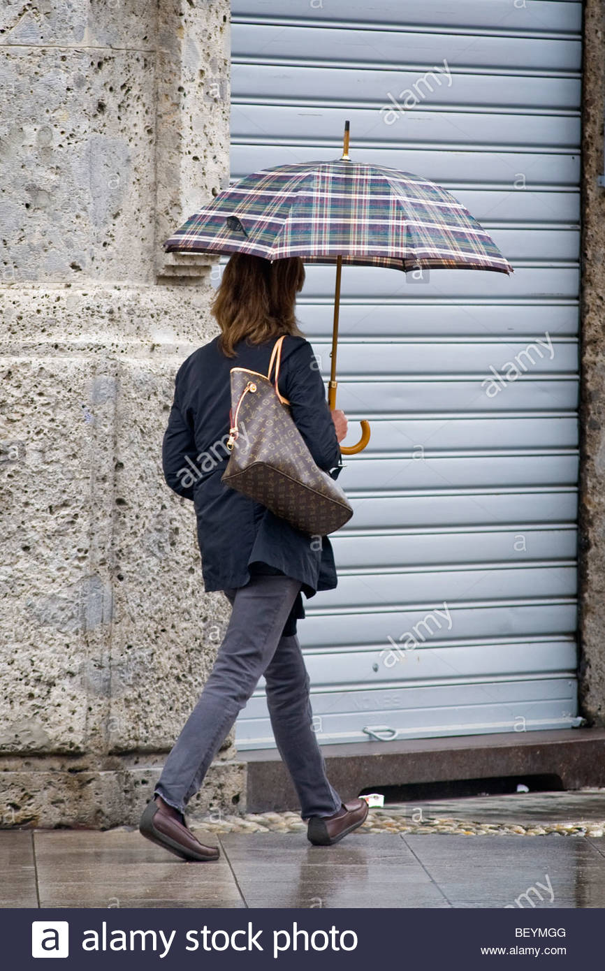 rain, magenta, lombardy, italy - Stock Image