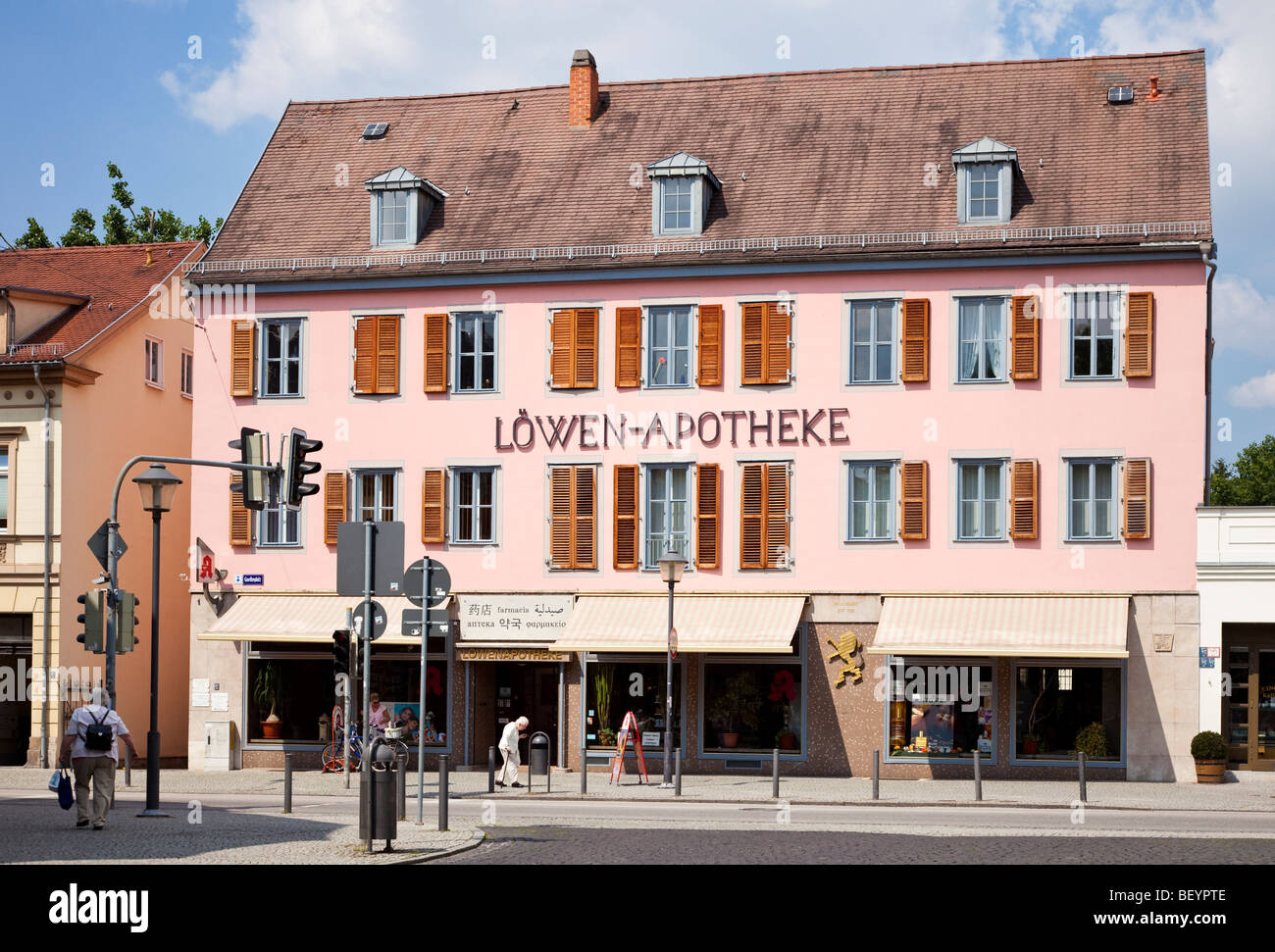 Apotheke chemist shop apothecary in Weimar, Germany, Europe - Stock Image