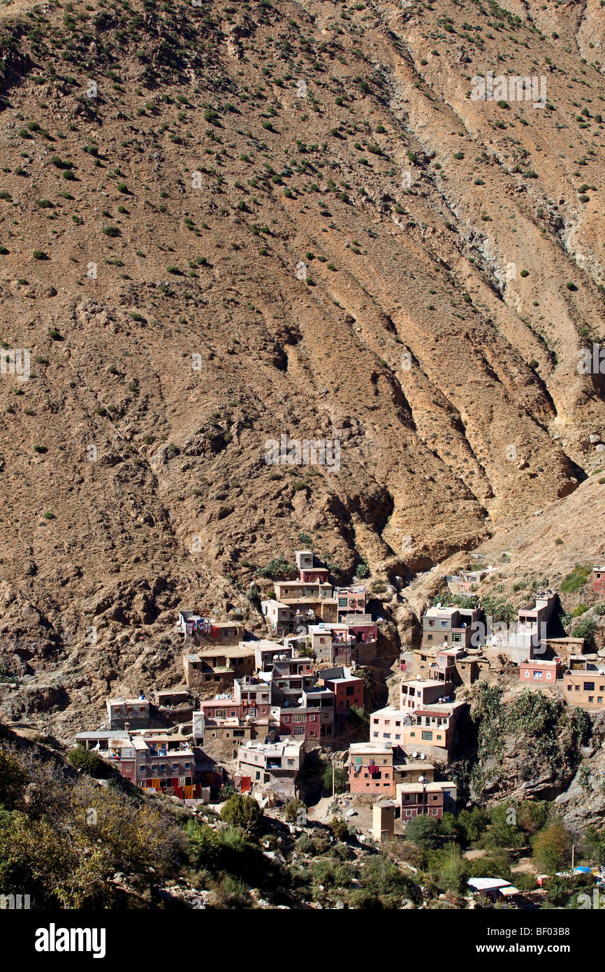 Setti Fatma berber village in Ourika Valley, High Atlas mountains 40km from Marrakesh, Morocco Stock Photo