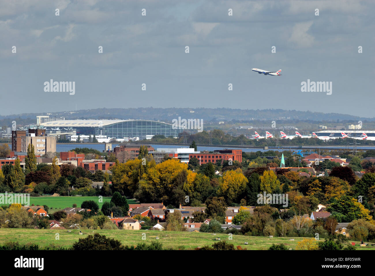 Terminal 5 Heathrow Airport England UK - Stock Image