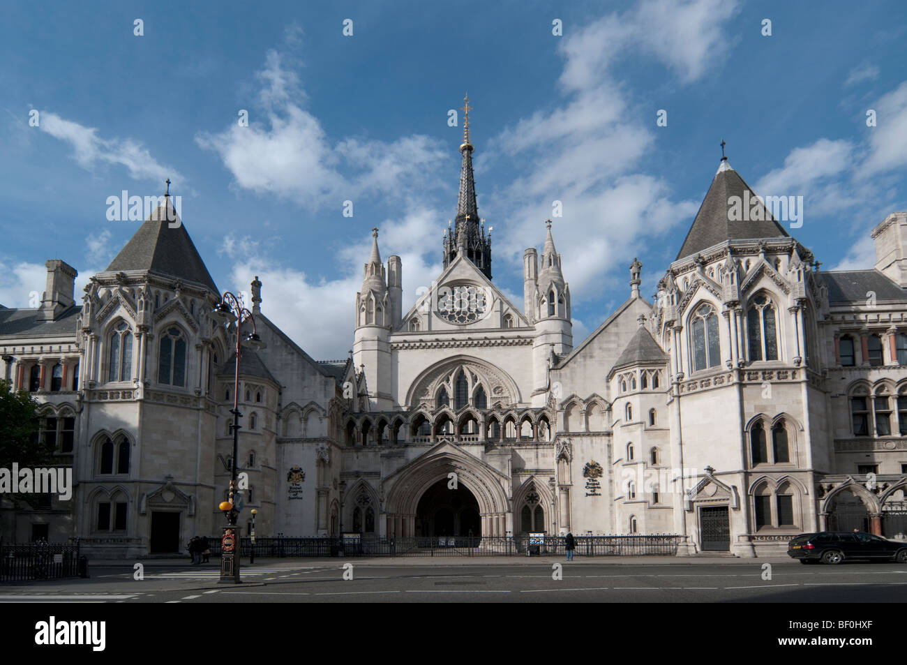 Royal courts of Justice Strand London England - Stock Image