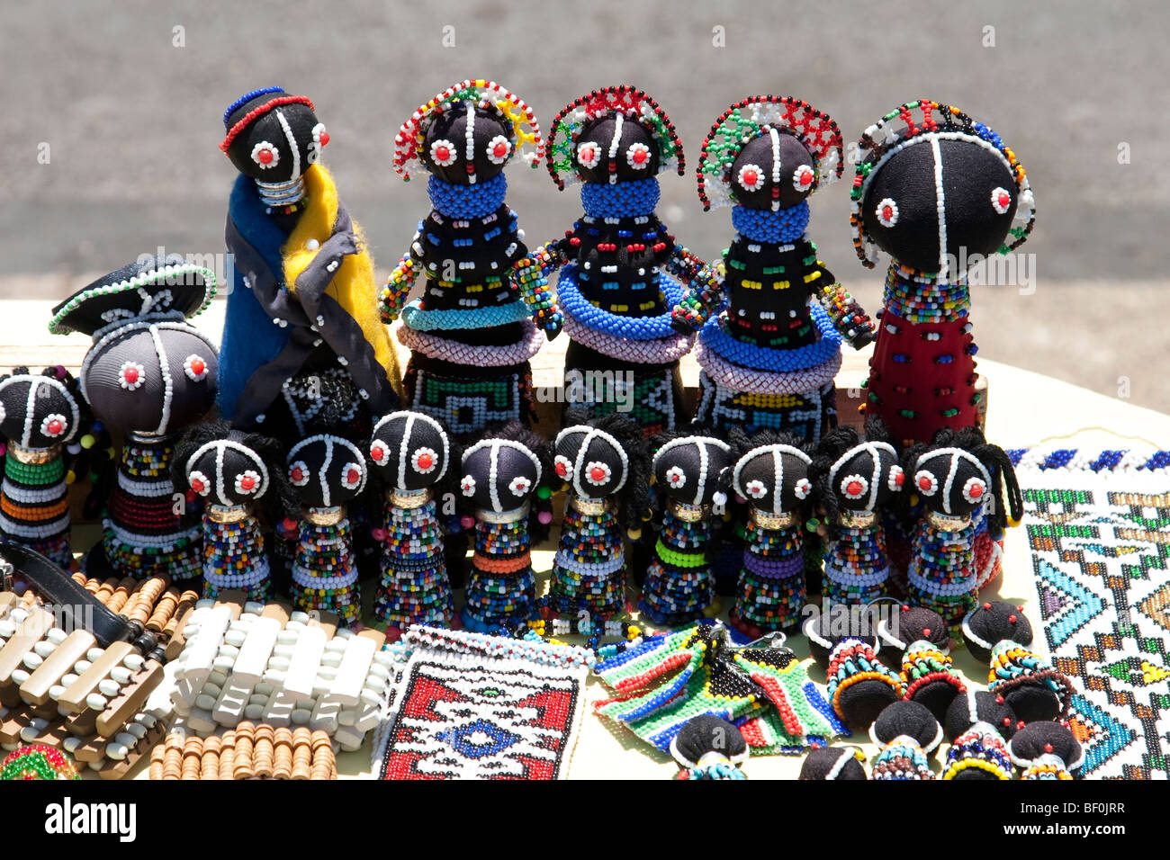 South African dolls for sale, Pretoria - Stock Image