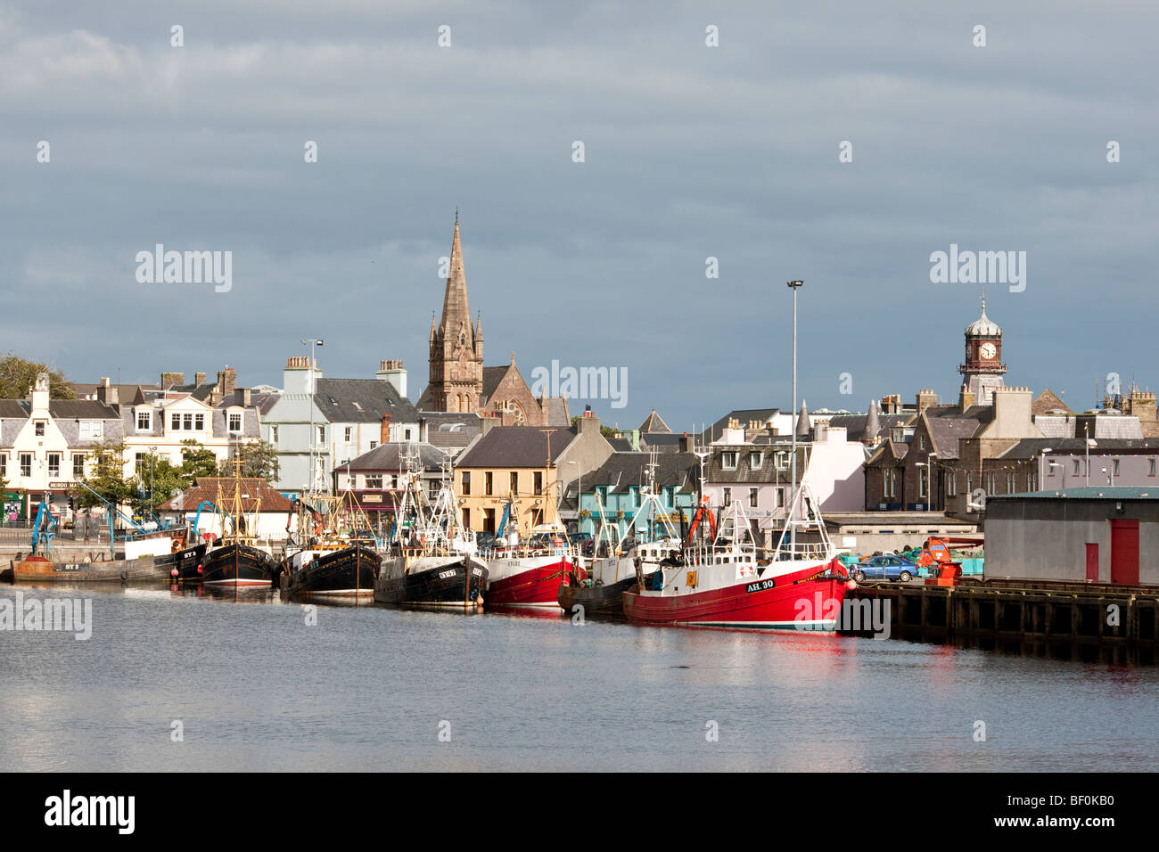 The harbour at Stornoway on the Isle of Lewis, Scotland - Stock Image