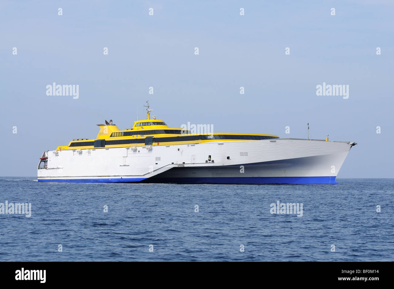 Modern high speed ferry boat - Stock Image