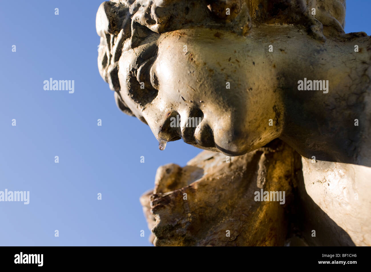 A female statue with the noose dripping, Sweden. - Stock Image