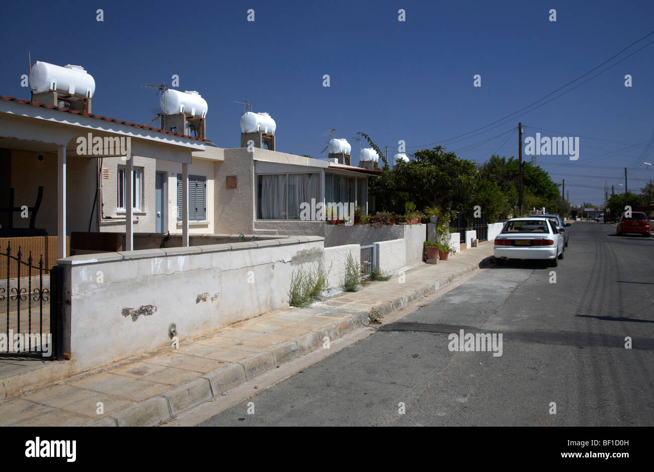 eac refugee site near dhekelia power station republic of cyprus - Stock Image