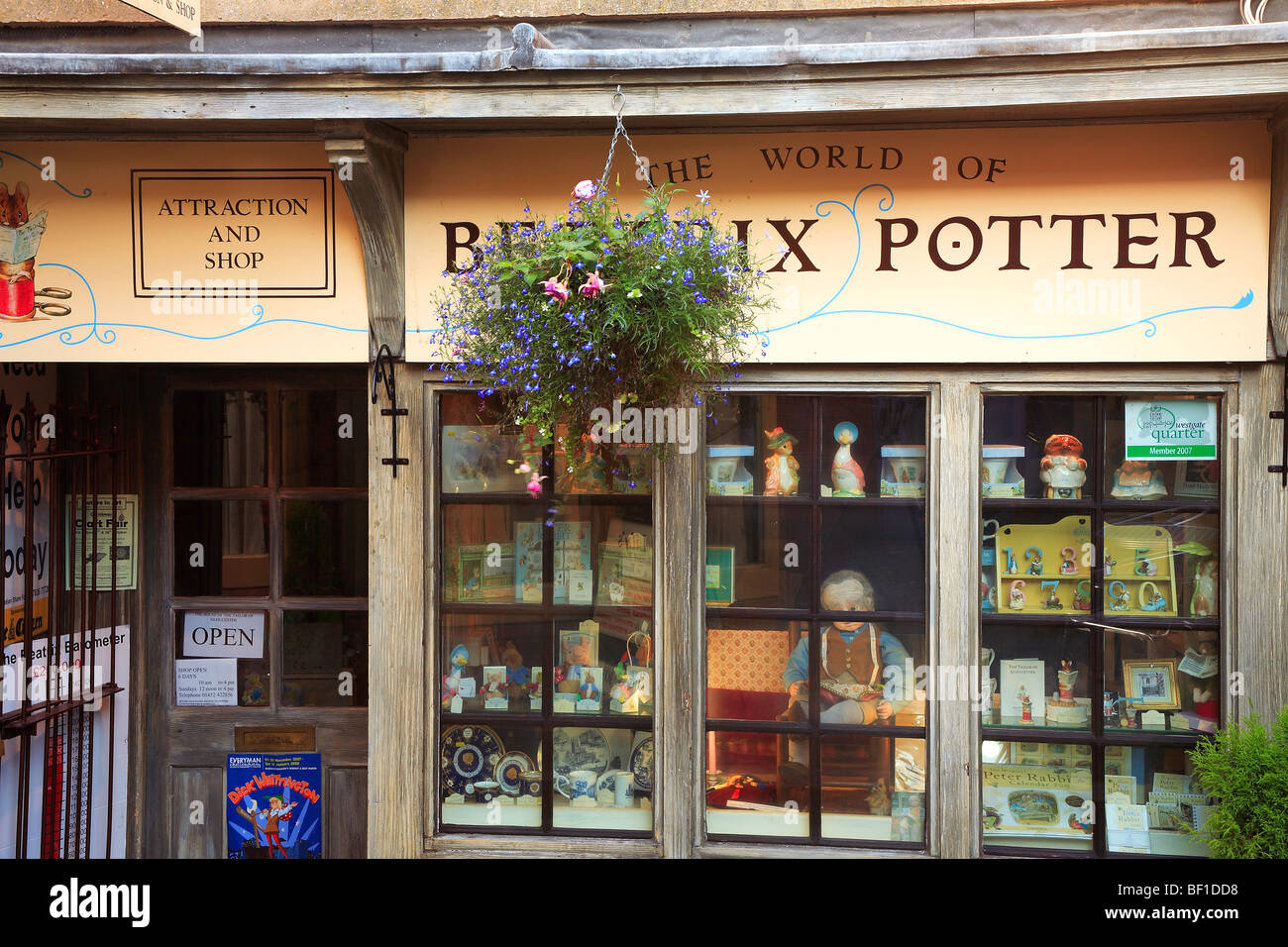 The House of the Taylor Beatrix Potter Shop in Gloucester, Gloucestershire England - Stock Image