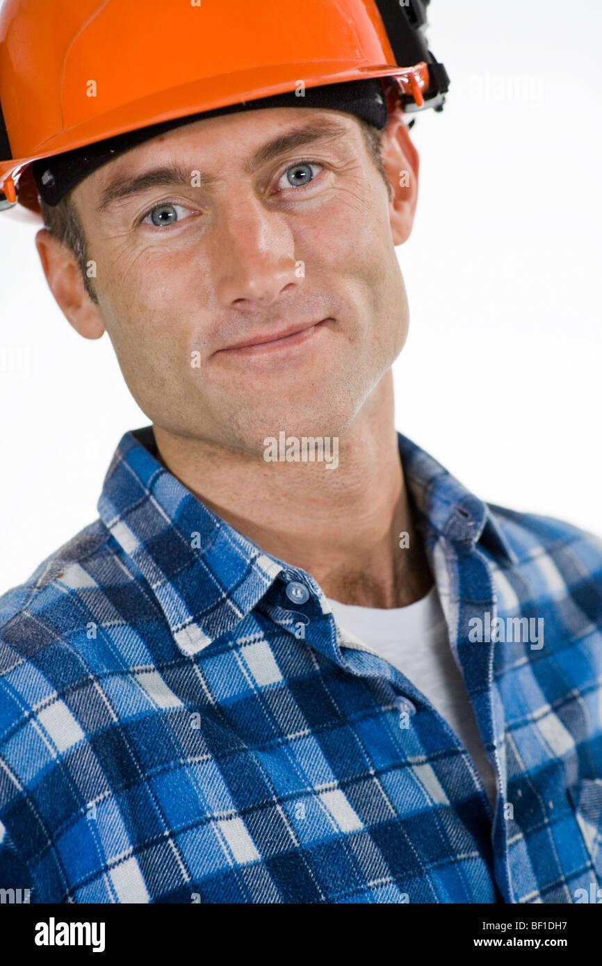 Portrait of a craftsman. - Stock Image