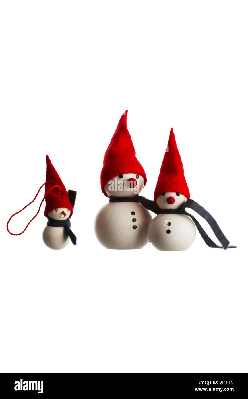 Christmas Decorations Against White Background Stock Photo