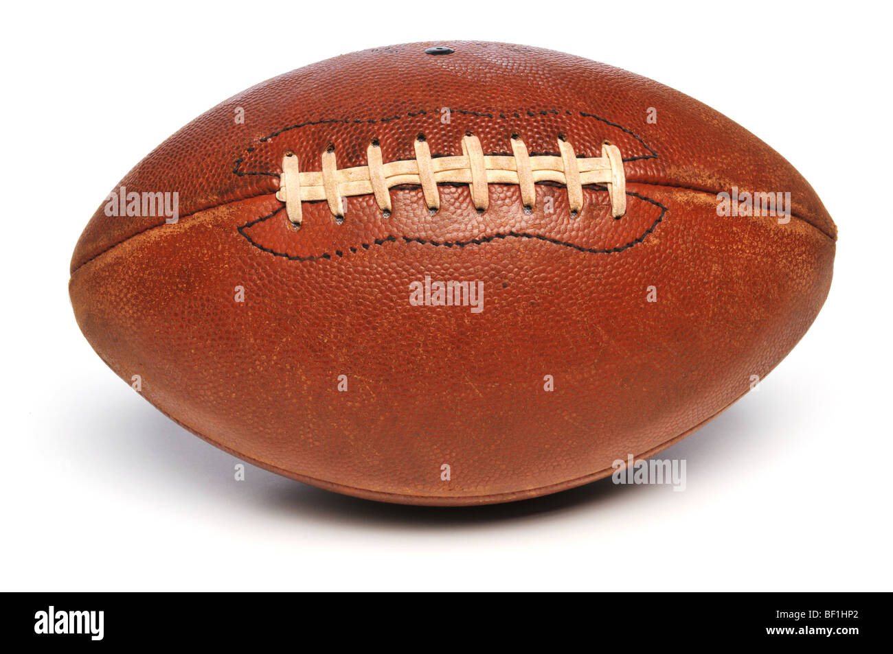 Football close up isolated on a white background - Stock Image
