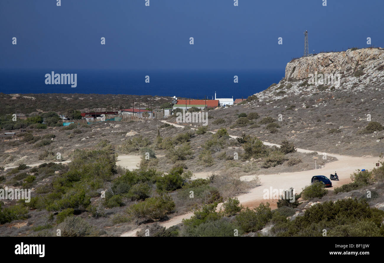 greek cypriot military base at Cape Gkreko cavo greco republic of cyprus - Stock Image