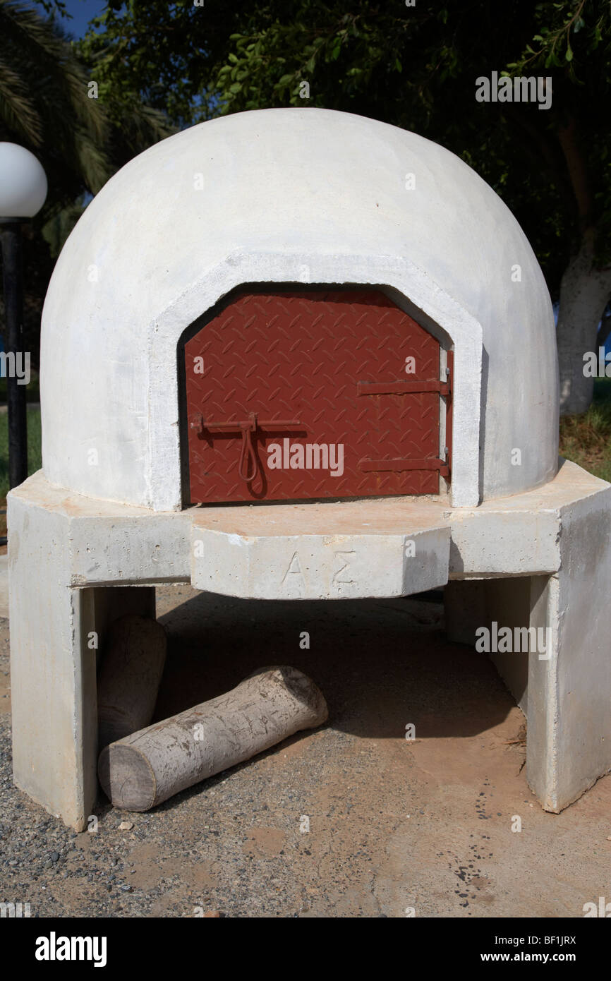 outdoor fourni stone bread oven traditionally used in the republic of cyprus - Stock Image