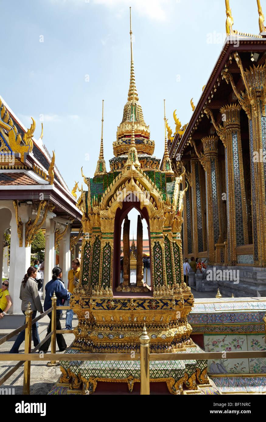 One of eight double Sema Stones sets at Wat Phra Kaew & Royal Grand Palace, Bangkok, Thailand. Stock Photo