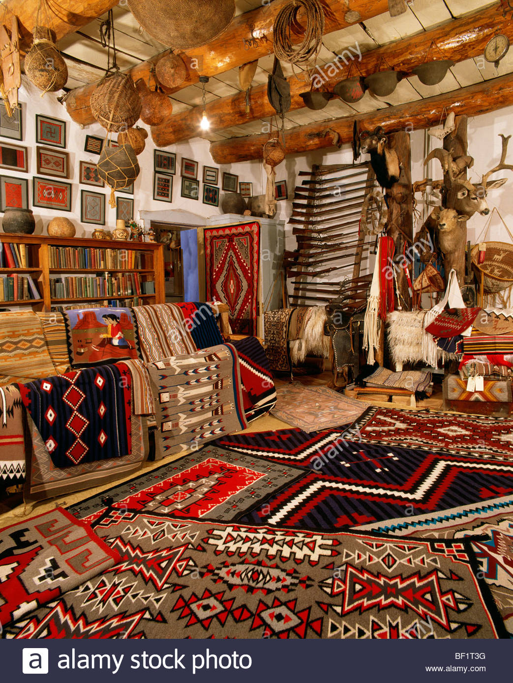 The Rug Room With Modern Navajo Indian Weavings Hubbell Trading