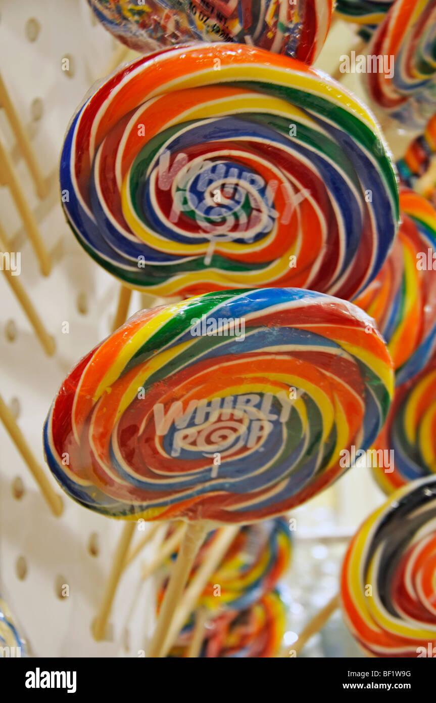Whirly Pop giant candy lollipop Stock Photo: 26472028 - Alamy