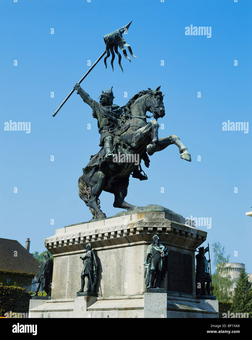William the Conqueror Statue, Falaise, Normandy, France - Stock Image