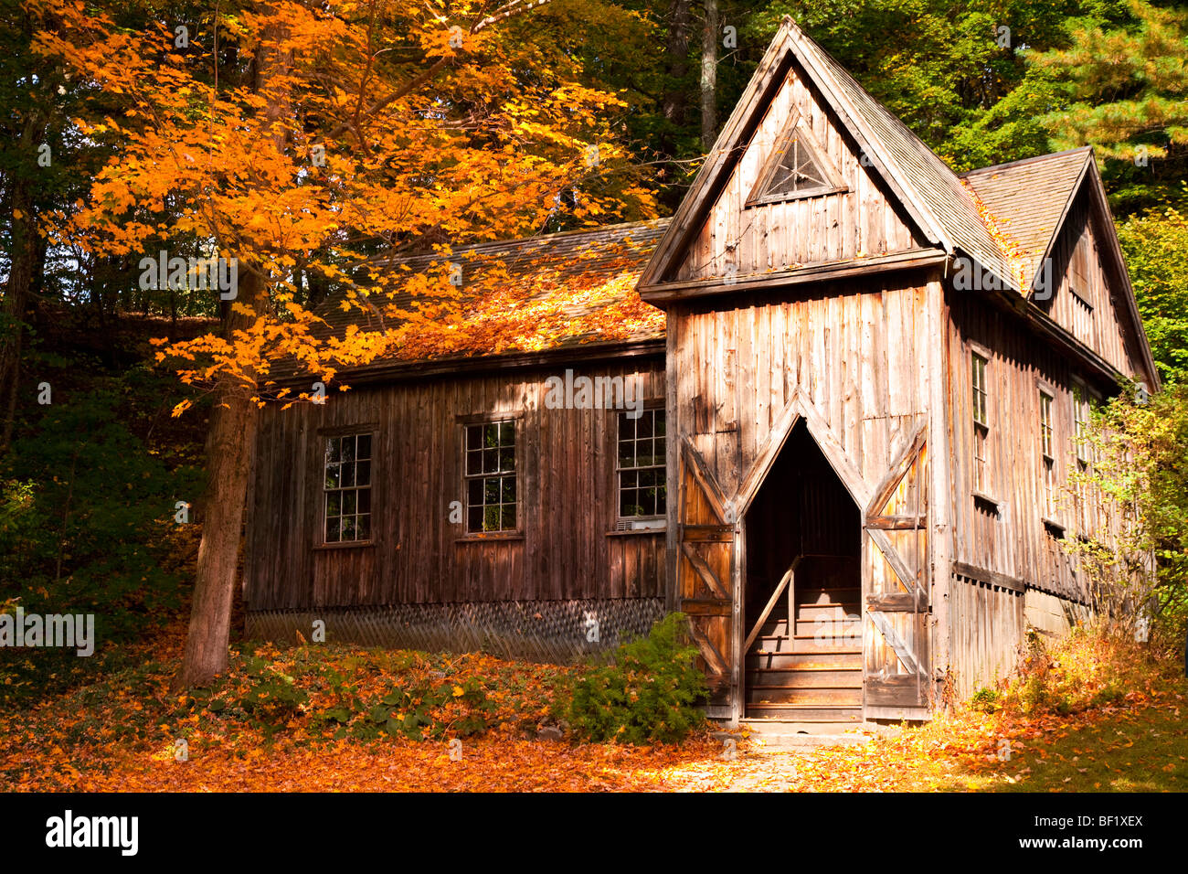 Concord School of Philosophy in Autumn, Concord Massachusetts USA - Stock Image