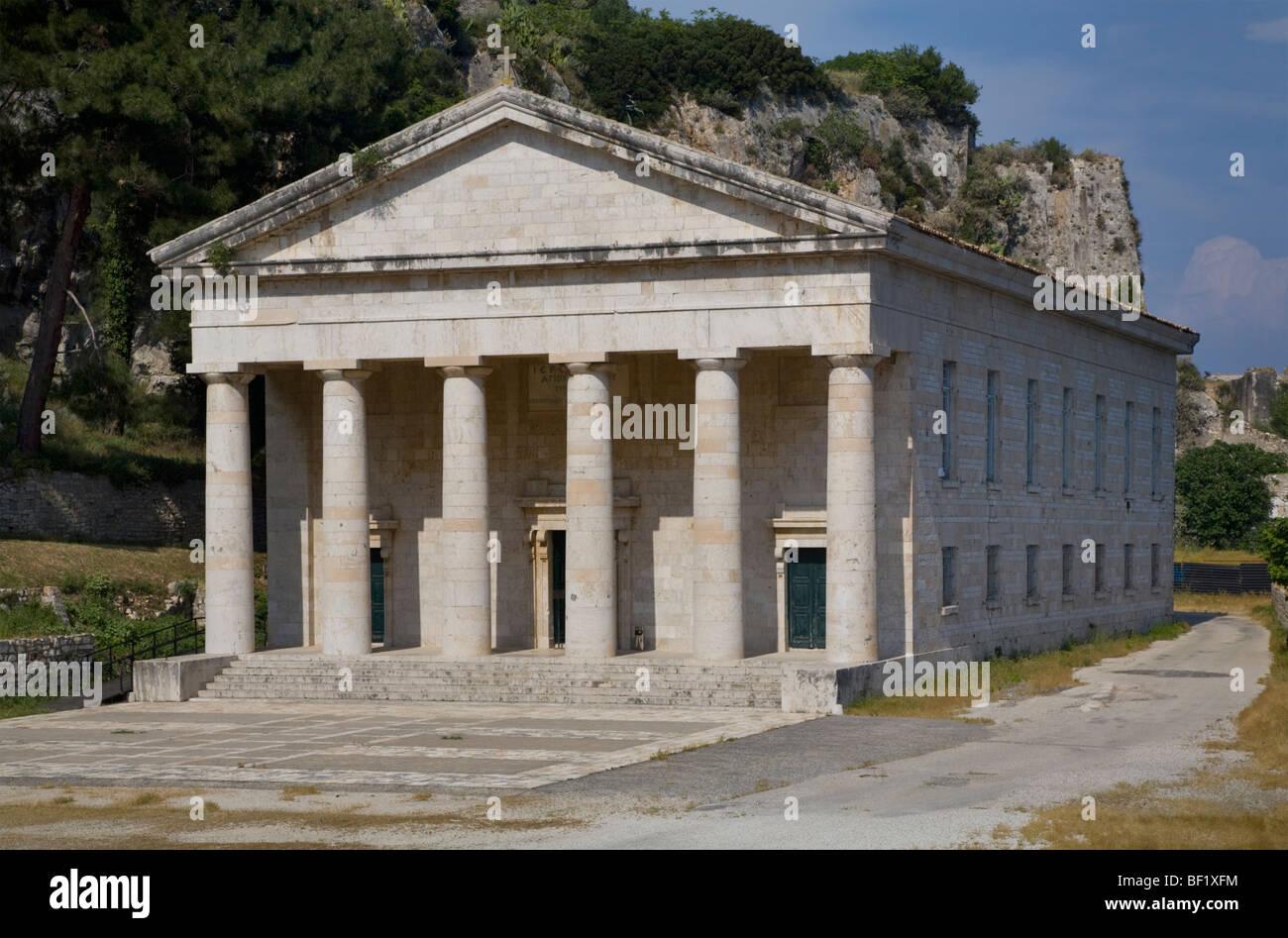 St. George's church in the old fortress, Kerkyra (Corfu), Greece - Stock Image