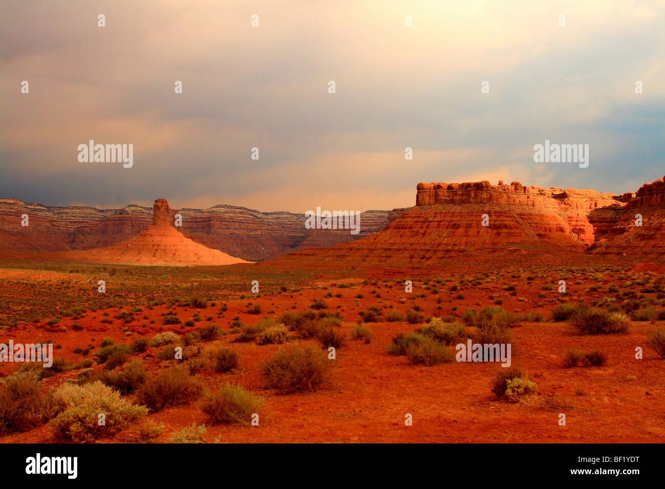Valley of the Gods Utah, USA Desert - Stock Image