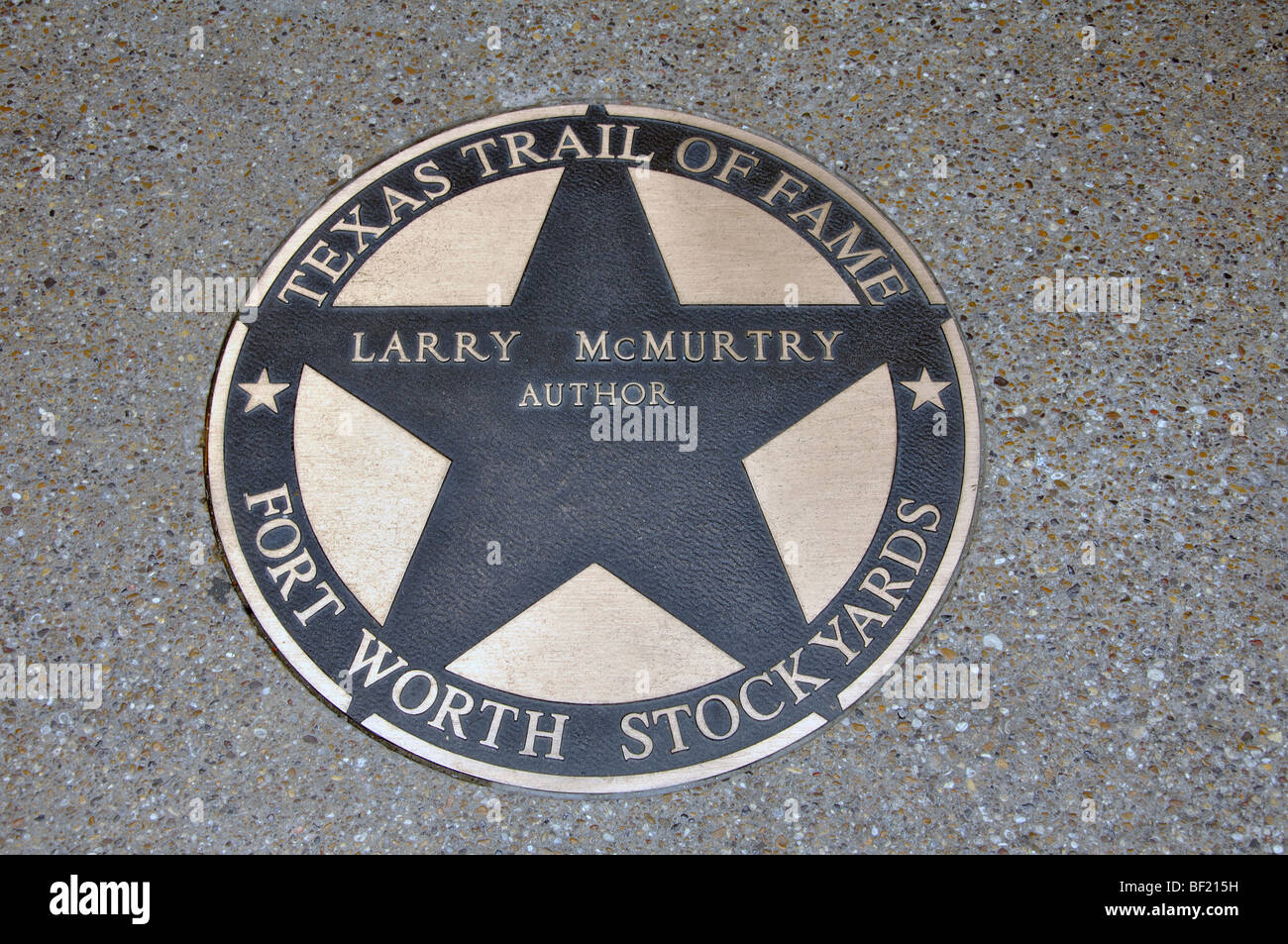 Larry McMurtry Hall of Fame star, Fort Worth, Texas - Stock Image