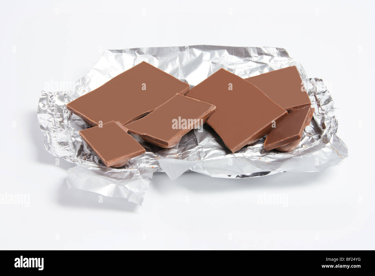 Pieces of Chocolate - Stock Image