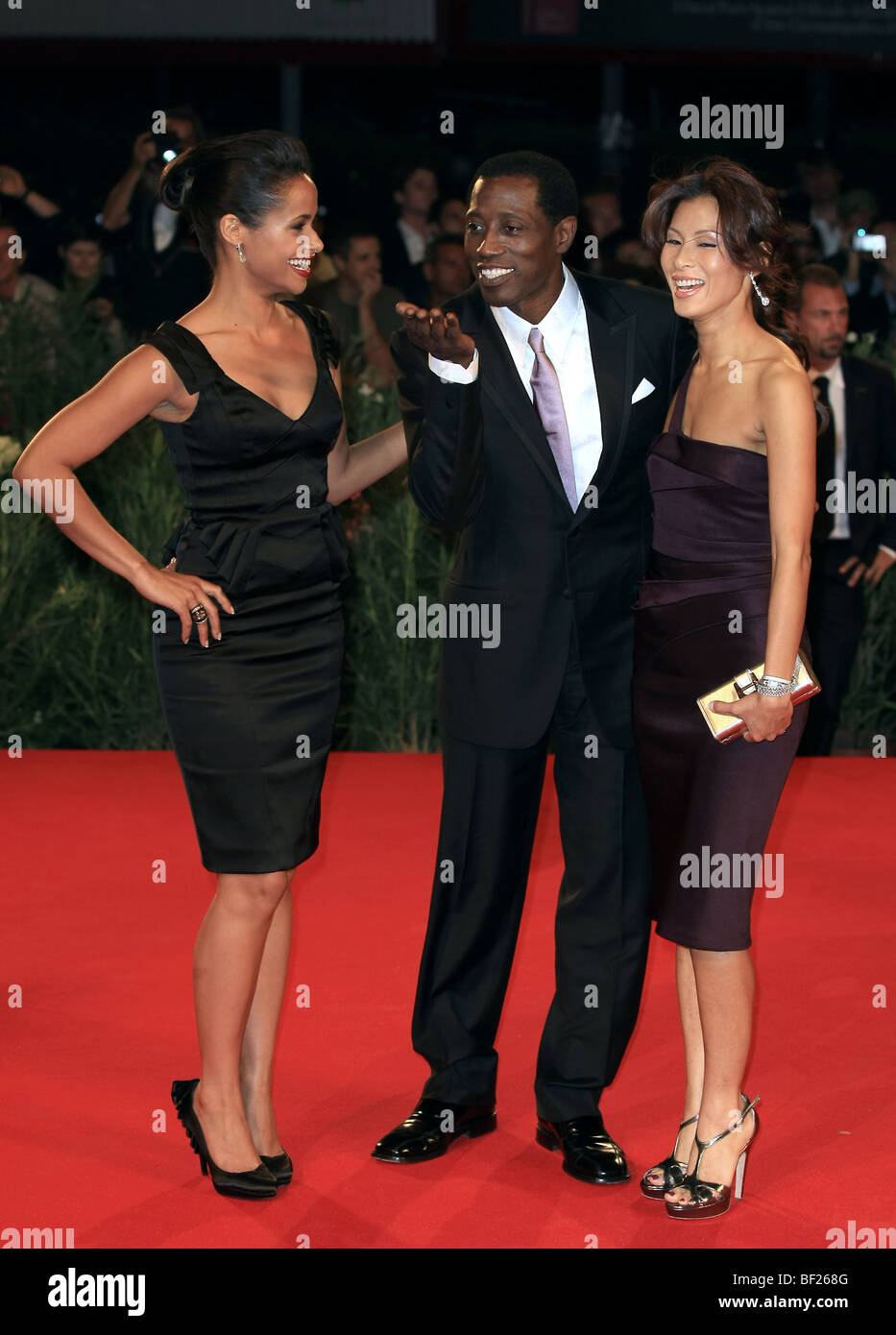 Shannon Kane Wesley Snipes Nikki Park Brooklyn S Finest Premiere 66th Stock Photo Alamy