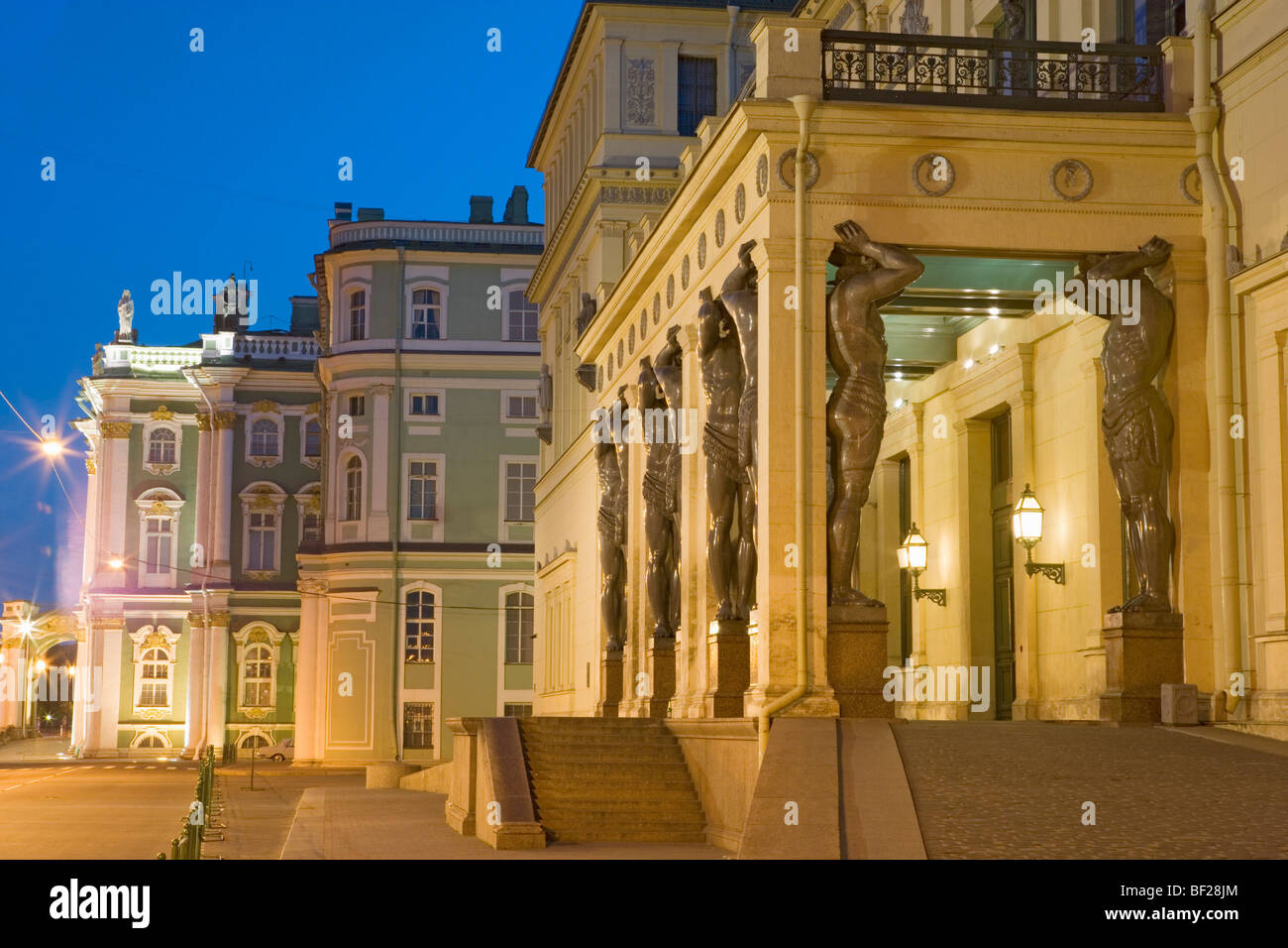 Portikus of the New Hermitage, Saint Petersburg, Russia - Stock Image