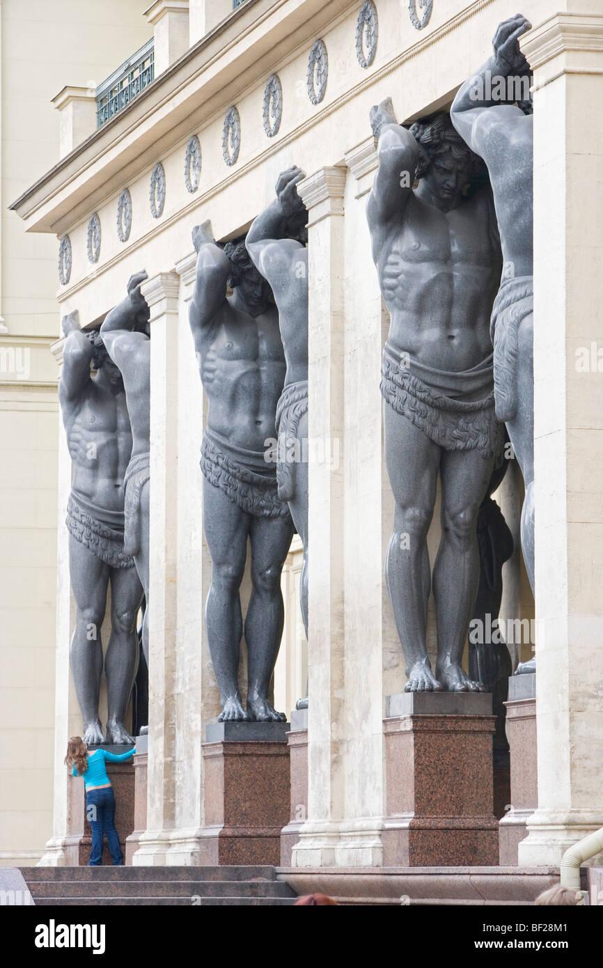 Portikus of the New Hermitage, Sankt Petersburg, Russland - Stock Image