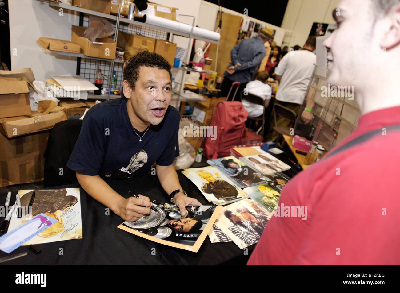 Craig Charles signing autographs at the London MCM expo. Britain 2009. - Stock Image