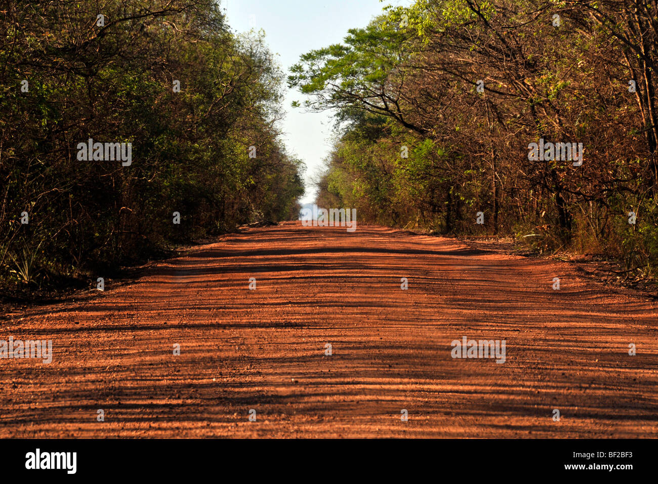 Dirt road near Bonito, Mato Grosso do Sul Brazil - Stock Image
