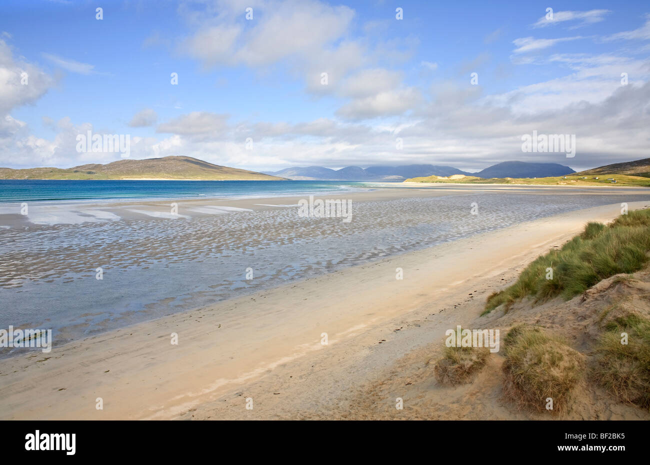 View across the Sound of Taransay from Seilibost, Isle of Harris, Outer Hebrides, Scotland - Stock Image