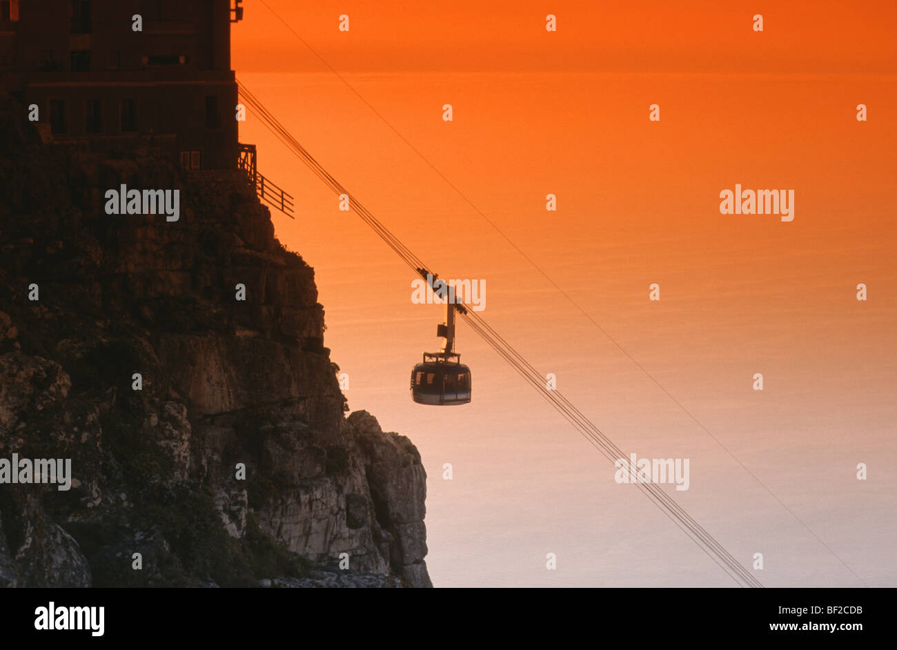 Cable Car, Table Mountain, Cape Town, Western Cape Province, South Africa - Stock Image