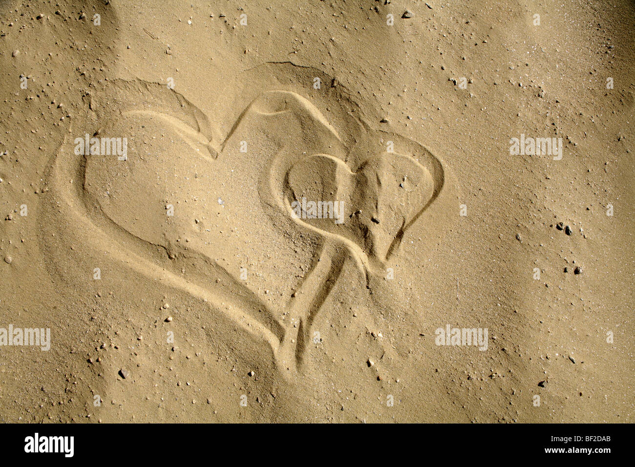 heart form the  sand - Stock Image