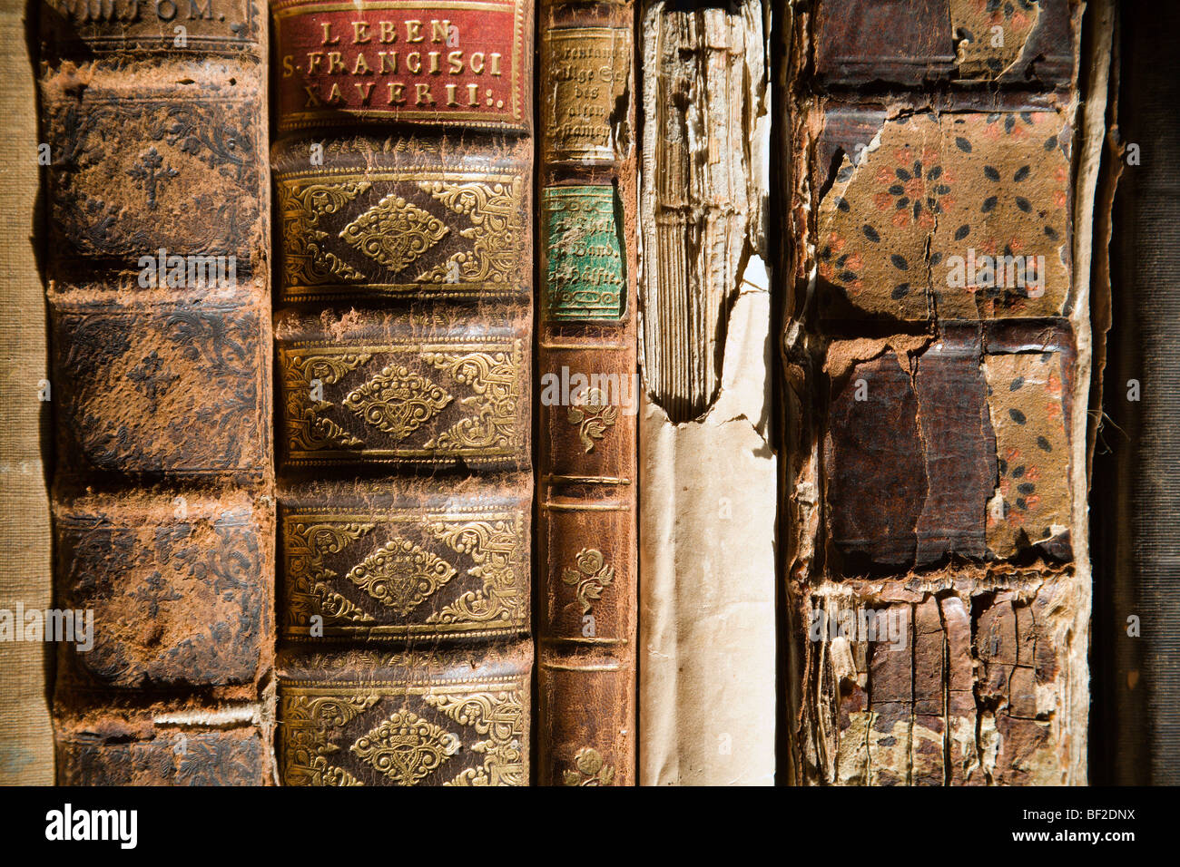 detail of old books - Stock Image