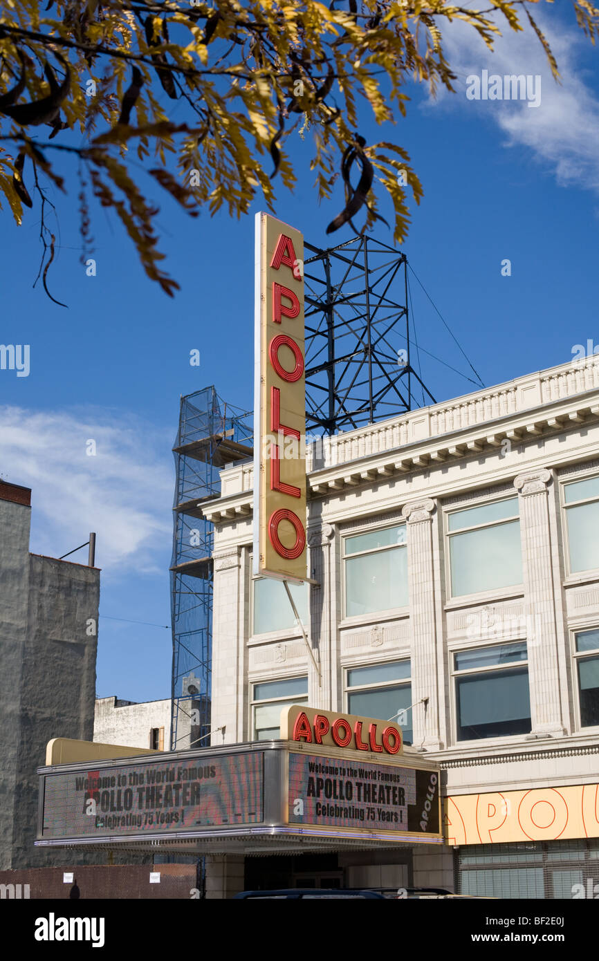 Apollo Theater, 125th Street, Harlem, Manhattan, New York City - Stock Image