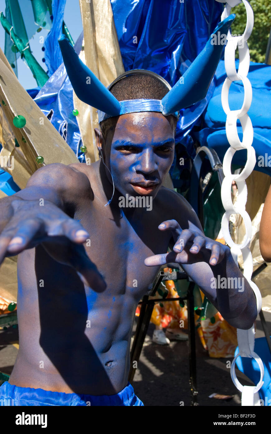 performers at Notting Hill Carnival London - Stock Image