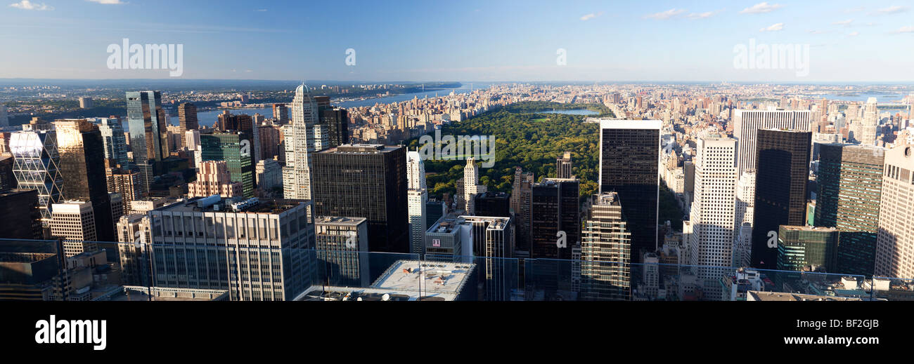 New York City and Central Park - Stock Image