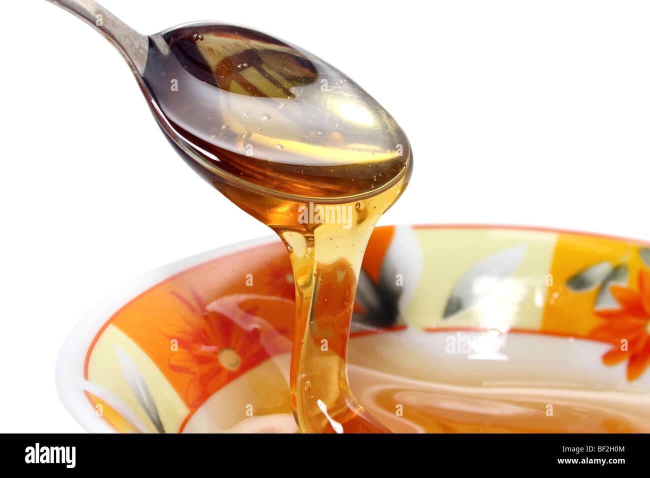 fresh white and sweet flowery honey healthy eating Stock Photo
