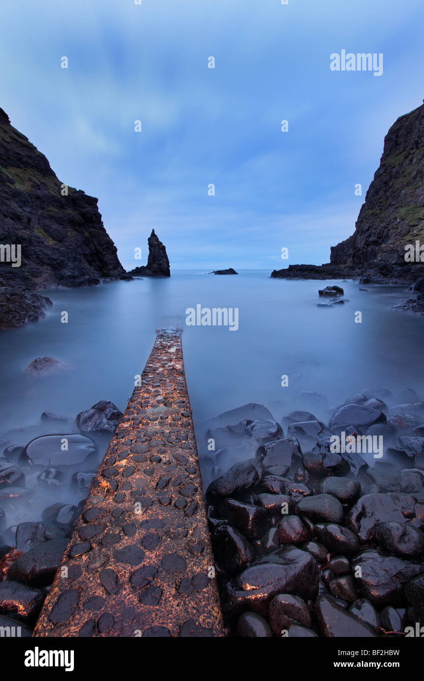 Portcoon Jetty, Giant's Causeway, County Antirm - Stock Image