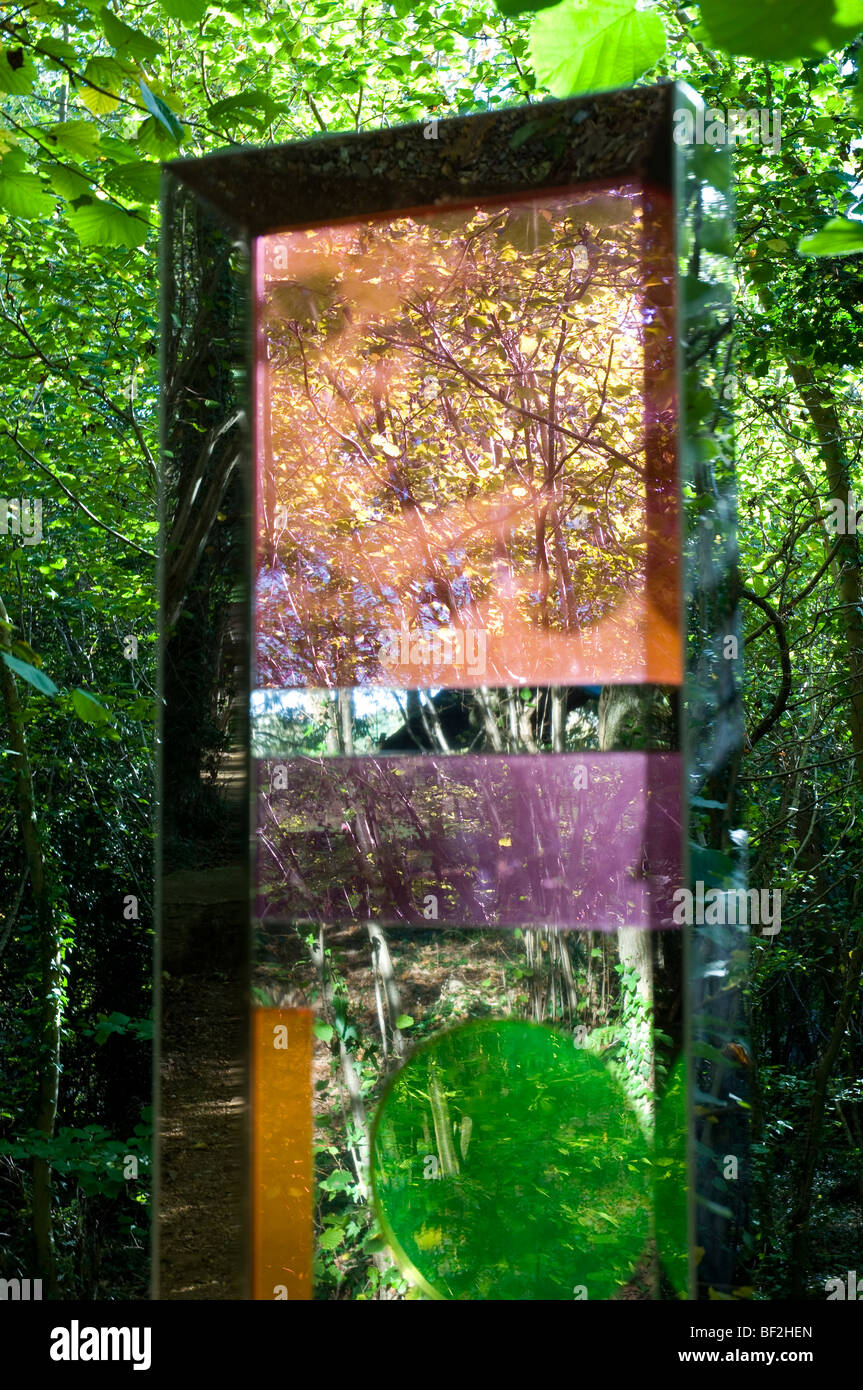 Abstract Art, Robin Hill Countryside Adventure Park, nr Newport, Isle of Wight, England - Stock Image