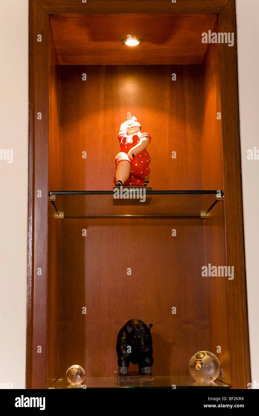 Showpieces on a showcase - Stock Image