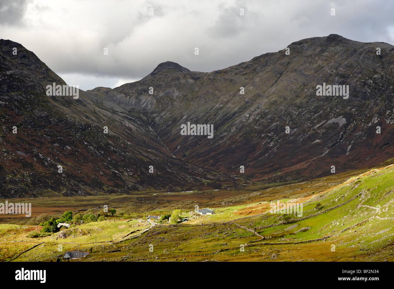 Part of the Twelve Bens mountain range. Connemara. Co Galway. Ireland 2009. - Stock Image