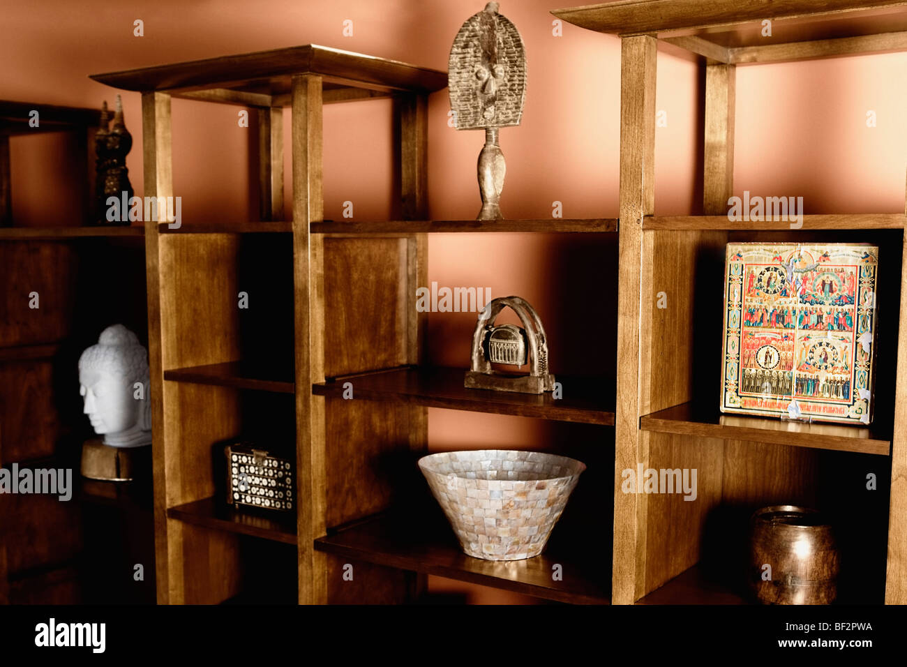 Artifacts on a shelf - Stock Image
